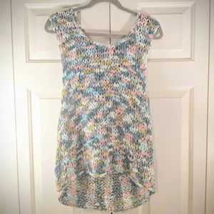 Urban outfitters pastel weaved tank plus size 1x
